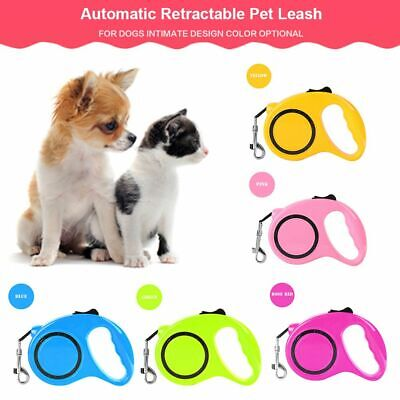 Rope Extending Puppy Pet Walking Lead Dog Leash Nylon Automatic Retractable