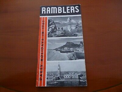 Ramblers Association Party Holidays 1962 Walking Brochure/Booklet *As Pictures*