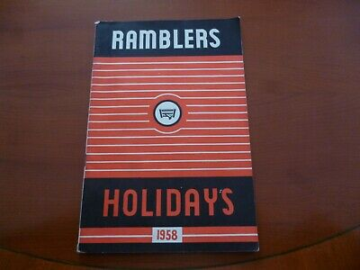 Ramblers Association Party Holidays 1958 Walking Brochure/Booklet *As Pictures*