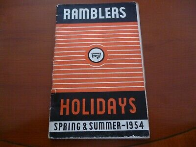 Ramblers Association Party Holidays 1954 (Tatty) Brochure/Booklet *As Pictures*