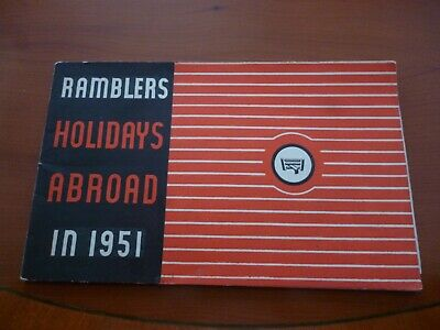 Ramblers Association Party Holidays 1951 Walking Brochure/Booklet *As Pictures*