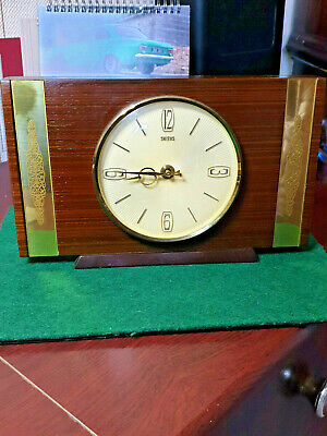 vintage smiths wooden battery mantel clock,industries ltd clock & watch division