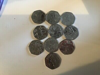 VARIOUS BEATRIX POTTER 50p COINS & Other Great British Coin Hunt.Fifty pence