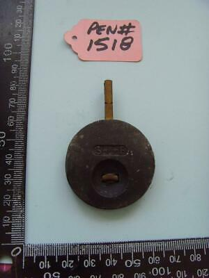 pen#1518 Single  1930's  mantle  clock parts pendulum  65mm top to bottom