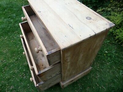 Victorian Pine Farmhouse 3 X Drawer Chest  Was £95 Now £65