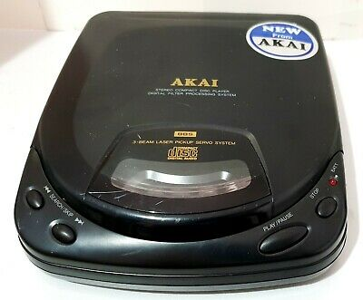 Vintage AKAI Model PD-X30 Portable CD Stereo Compact DIsc Player AC/DC - Working