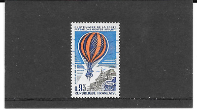 France 1971.cent Years of the post par Ballons.timbre Gum Oblitere. Pa. N° 45