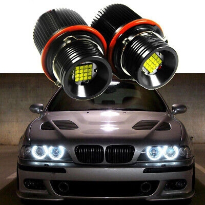 HID Matching LED Angel Eyes CREE Halo Ring Marker Bulbs For BMW E39 E87
