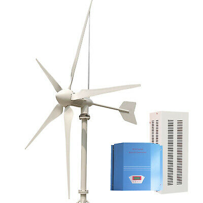 Tumo-Int 3000W 5Blades Wind Turbine with Wind and Solar Hybrid Controller (48V)
