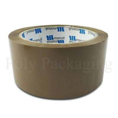 "144 x 48mmx66m(2"")Rolls BROWN TAPE for Packing Sealing Parcels/Boxes/Packaging"