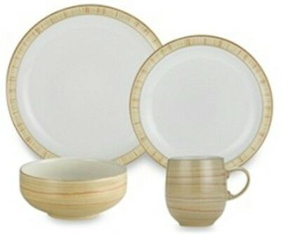 Denby Pottery CARAMEL STRIPES Four Piece Place Setting - Discontinued!