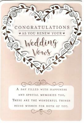 Vow Renewal Card Congratulations As You Renew Your Wedding