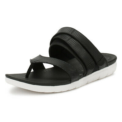 380e9dd401 FitFlop Womens Black Mix Neoflex Toe Thong Sandals Ladies Summer Casual  Shoes