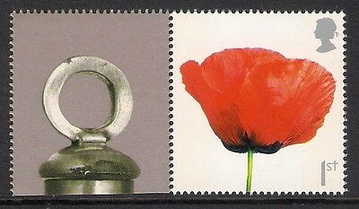GB 2008 sg LS55 Lest We Forget Poppy Smiler Sheet Single Stamp & Label Litho MNH