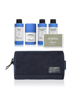 Baxter Of California Travel Face Wash Shampoo Conditioner Grooming Kit Gift Set