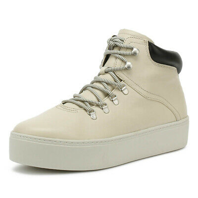 Vagabond Womens Trainers Salt White Jessie Lace Up Leather Casual Shoes