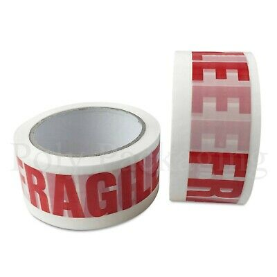"144 x FRAGILE TAPE for Warning/Attention(48mmx50m)2"" Packing Parcels Sticky"