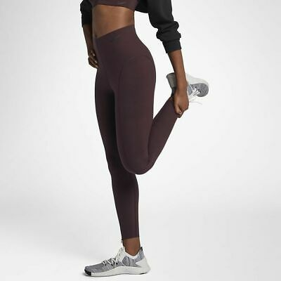 2d01fc2374fca Nike Power Sculpt Lux Studio Women Training Tights -Burgundy 938066-652 Xs  S M L