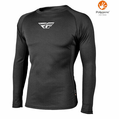 2018 Fly Racing Light-Weight Moisture Wicking Base Layer Shirt for Motocross