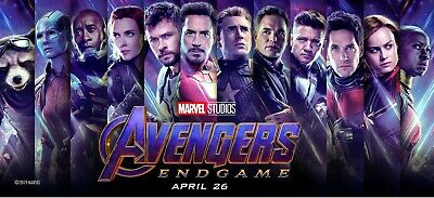 AVENGERS ENDGAME 40x18 VINYL POSTER banner Black Widow Thanos Captain Marvel