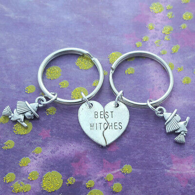1set Best Witches Keychains,Witch Friends,Pagan Gift,Wicca Keyring