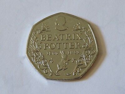 Beatrix Potter Words 50P 50 Pence Coin  2016 Uncirculated Free Post New