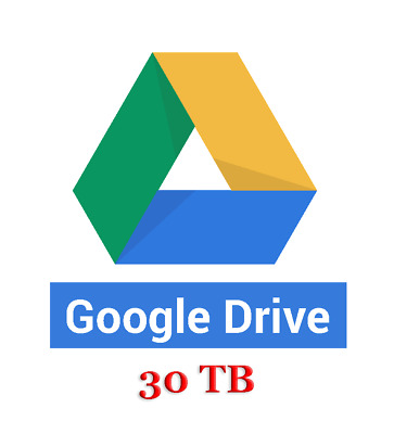 Google Drive 30 TB - Single payment. Forever and ever!