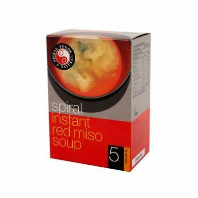 Spiral Foods Instant Miso Soup Red 5x7g | GMO Free Vegan