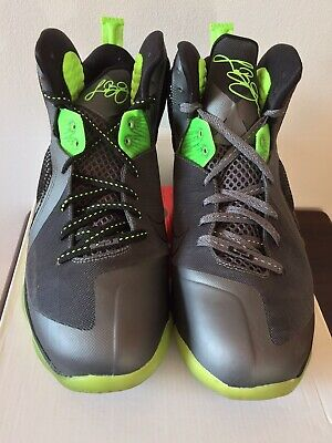 detailing 8d439 46820 Nike LeBron James 9 IX Dunkman Dark Grey Black Volt Sz 11