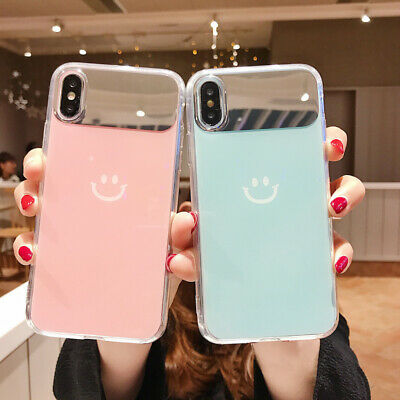 Slim Cute Pattern Hybrid Mirror Case Cover For iPhone XS Max XR X 8 7 6 6s Plus