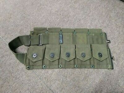 Vintage WWII  WW2 M-1 GARAND / '03 CARTRIDGE BELT 10 POCKET AMMO BELT US  #100