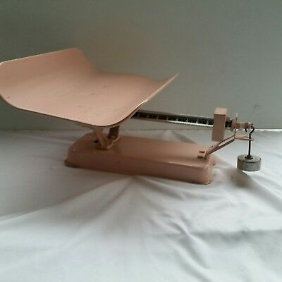 Antique Vintage Detecto Pink Nursery Beam-Type Baby Scale by Jacobs Bros Co.