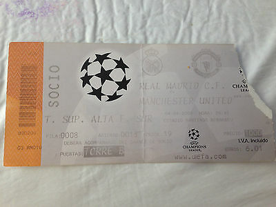 Entrada Ticket Real Madrid Spain Manchester United England Champions 1999 2000