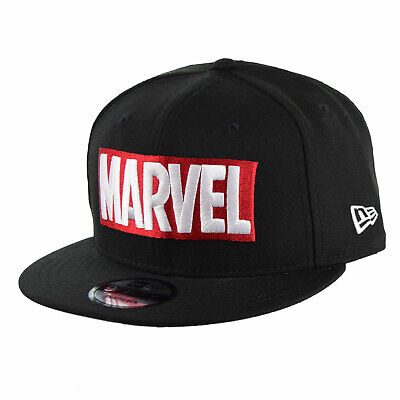 sports shoes 750b5 39157 New Era Marvel 9Fifty Snapback Cap Hat Black 70510624