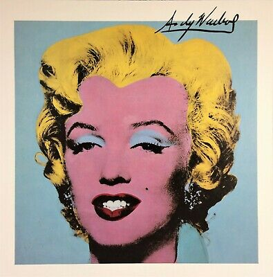 Andy Warhol Hand Signed Signature * Marilyn *  Print  W/ C.o.a.