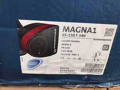 Grundfos Magna1 65-150F 97924207 340mm Flanged Circulating Pump #1470