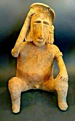 Large Pre Columbian Jalisco Male Figure - MEXICO - 200 BC to 500 AD