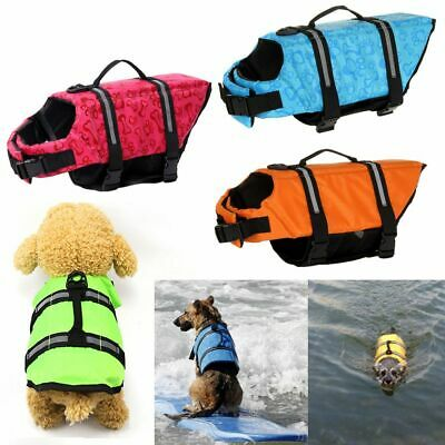 Dog Life Jacket Pet Safety Clothes Swimming Preserver Puppy Surf Saver Coat