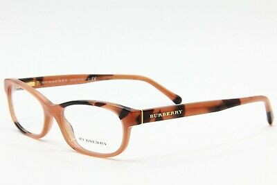 141692581a87 New Burberry B 2202 3518 Brown/Havana Eyeglasses Authentic Frame Rx B2202  52-16