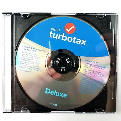 Intuit Turbotax Deluxe Federal + State 2018 Tax Software Windows/Mac Never Used