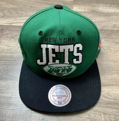 ae73ba5dc79331 NFL MITCHELL & Ness New York Jets Throwback Arch Snapback Adjustable ...
