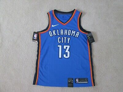 fc14b7185515 Nike Authentic OKC THUNDER  13 Paul GEORGE Swingman Blue Jersey Men M NEW  NICE!