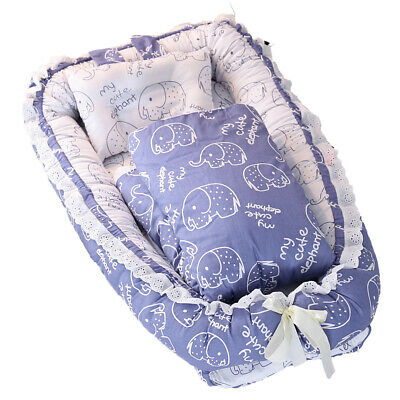 Baby Bassinet for Bed All in one Portable Infant Co-Sleeping Cribs Lounger V1L9