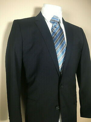 HUGO BOSS RED LABEL 'Aiko1/Heise' Navy Blue 2 Button Suit Coat Jacket 44 R $795