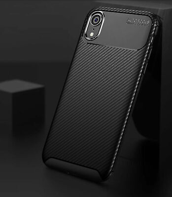 Case for iPhone Carbon Fibre Soft Cover TPU Silicone Slim X XR XS Max 6 7 8 Plus