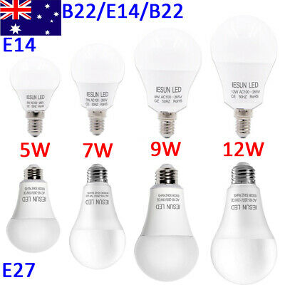 E14 B22 E27 LED Bulb 5/7/9/12/15/18/20W Bayonet Screw Edison Lamp Globe Light CE