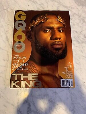 3dade0b8d34 LEBRON JAMES GQ Magazine February 2009 SEALED IN PLASTIC NO LABEL ...