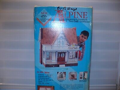 Vintage 1991 Dura-Craft Wood Doll House Kit Alpine Mansions Miniature new