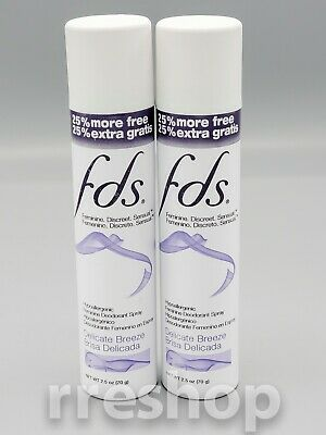 Fds Deodorant Shower Fresh 2.5 Oz / 70 G (Lot Of 2)