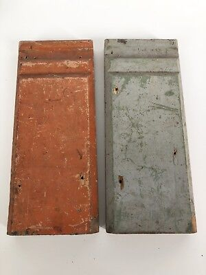 Lot of 2 - Vintage Wooden Antique Plinth Blocks Door Trim Architectural Salvage